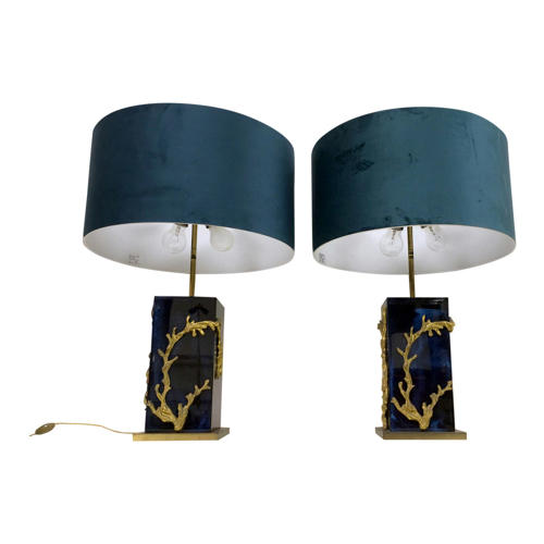 A pair of Algue table lamps by Maison Charles