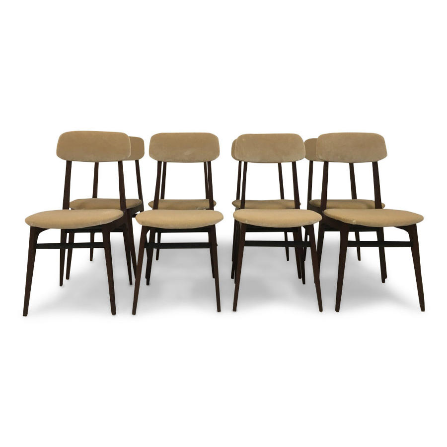A set of eight 1960s Italian dining chairs