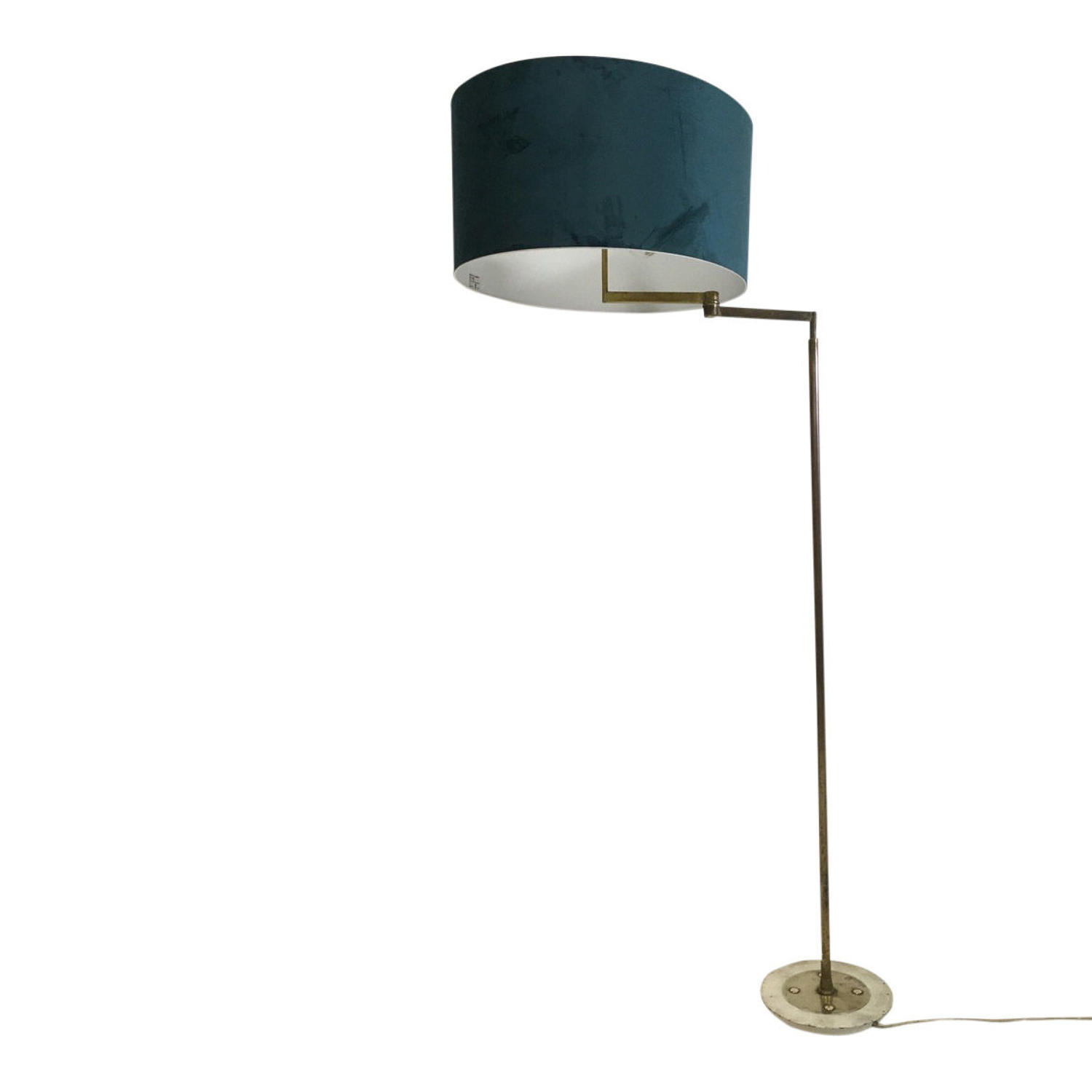 1950s brass swing arm floor lamp