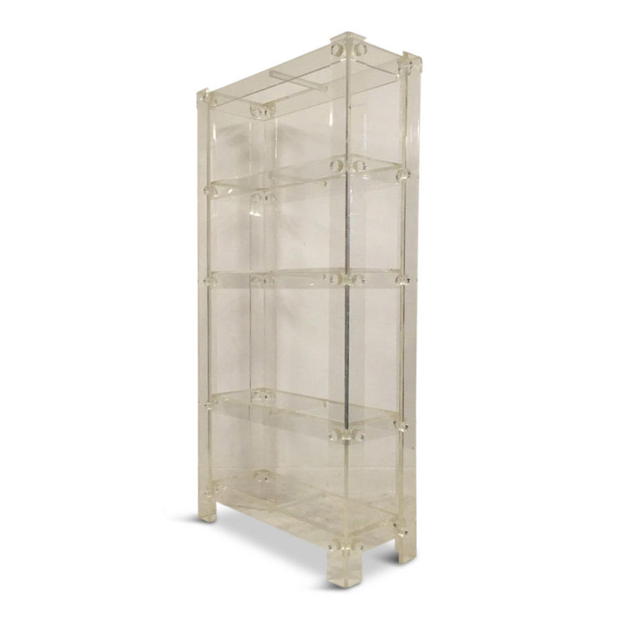 1970s lucite etagere in the style of Charles Hollis Jones