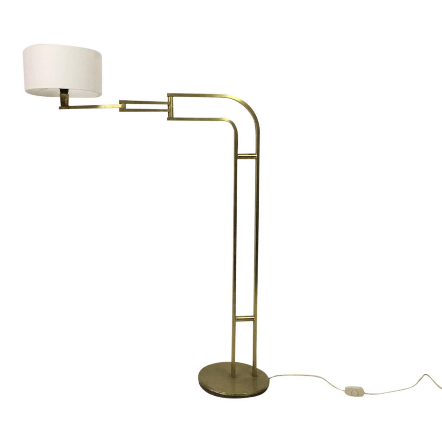 1970s Italian brass swing floor lamp by Reggiani