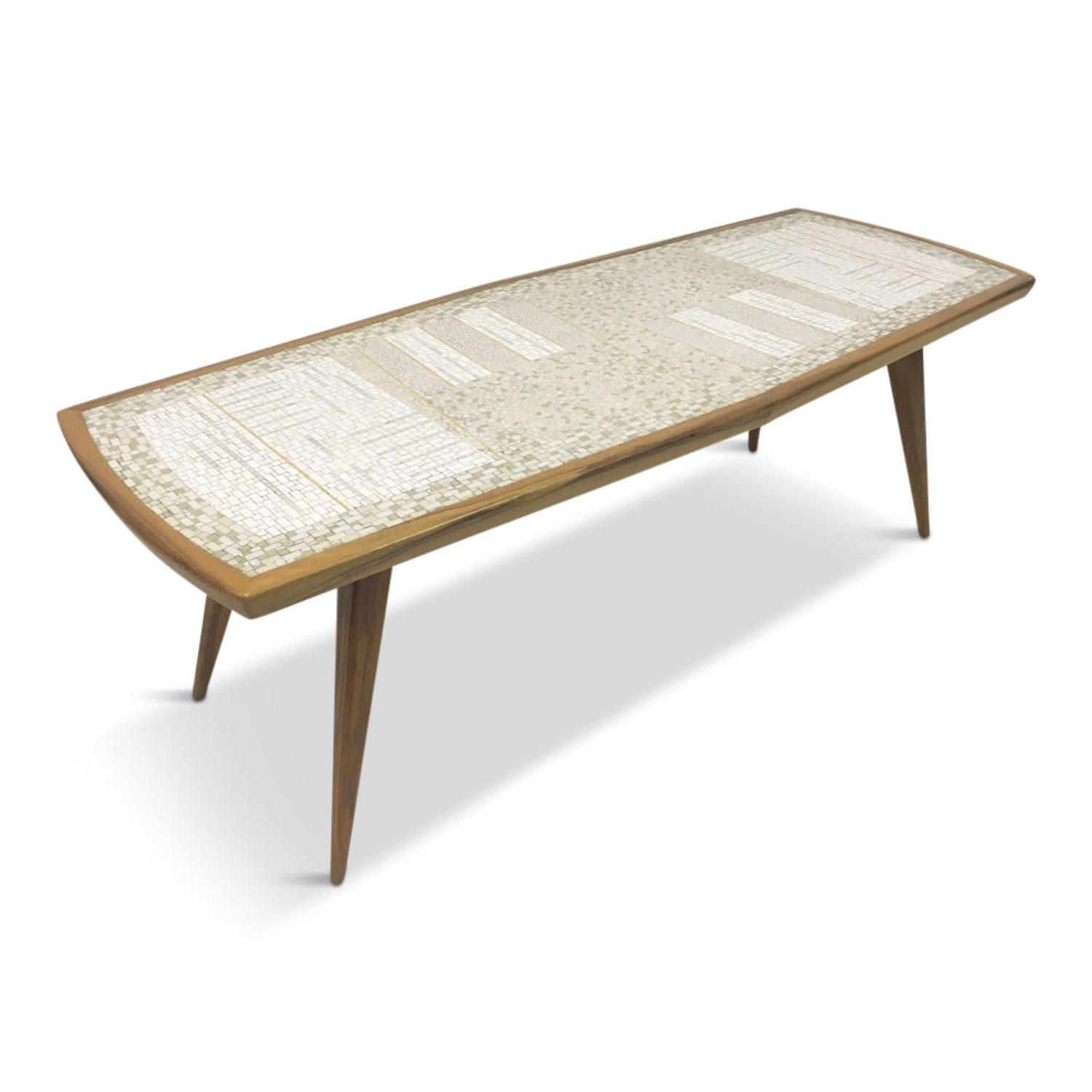 1960s mosaic tile coffee table by Berthold Muller
