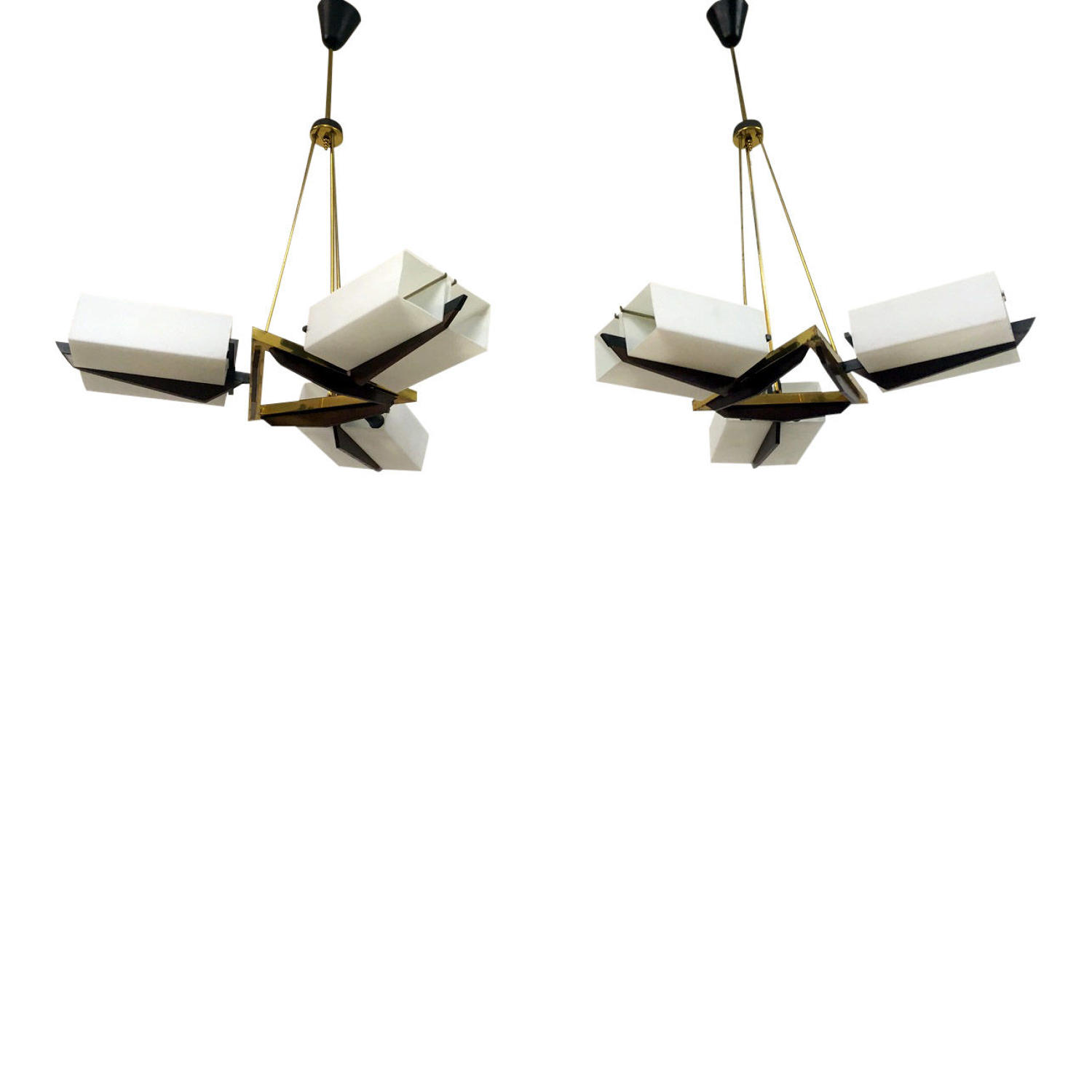 A pair of 1960s Italian pendants by Stilux