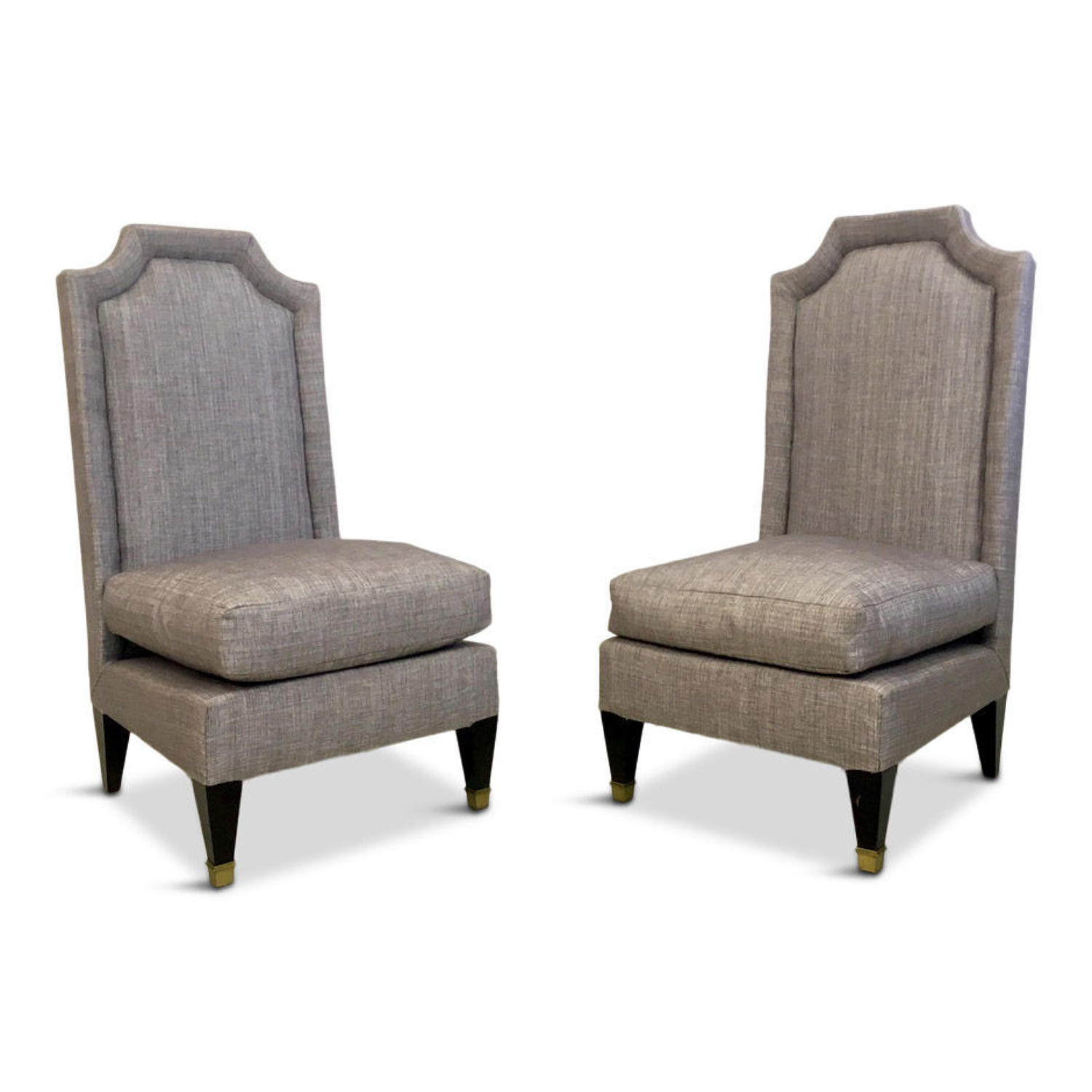 A pair of 1950s French hall chairs in the style of Jean Pascaud