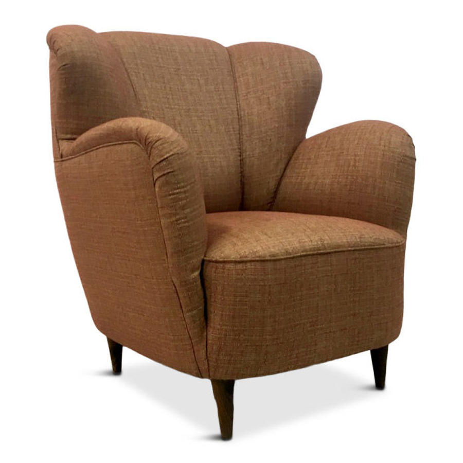 1950s Italian armchair in pink fabric