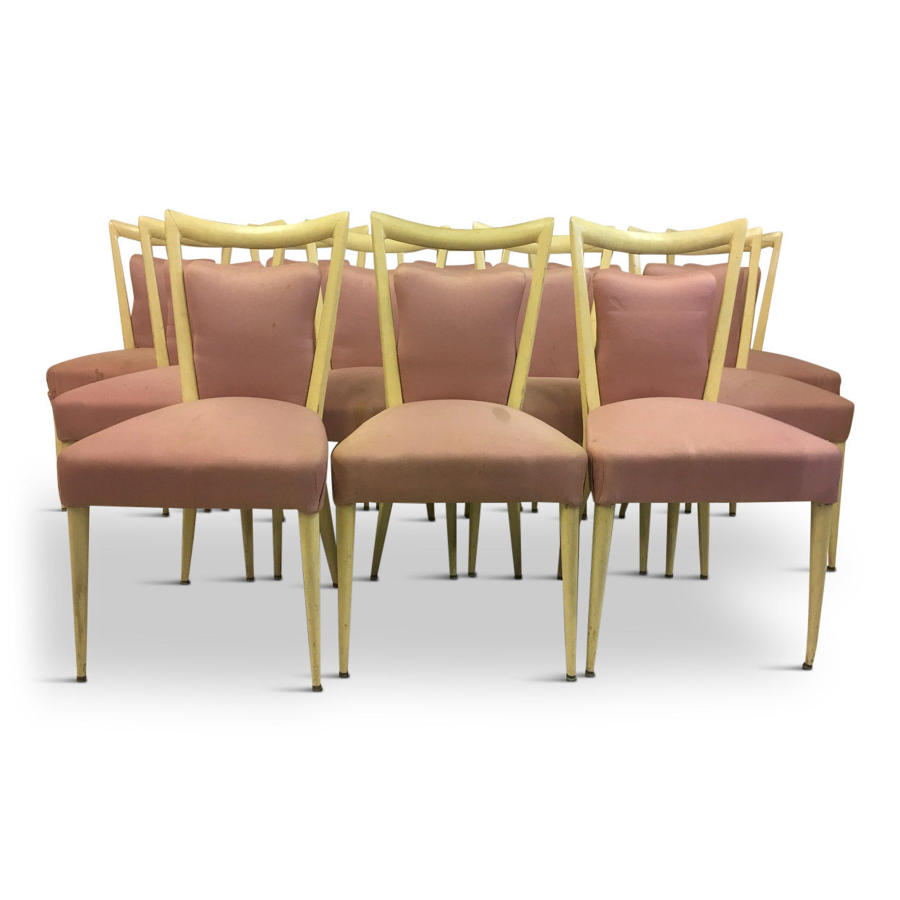 A set of twelve Italian dining chairs by Melchiorre Bega