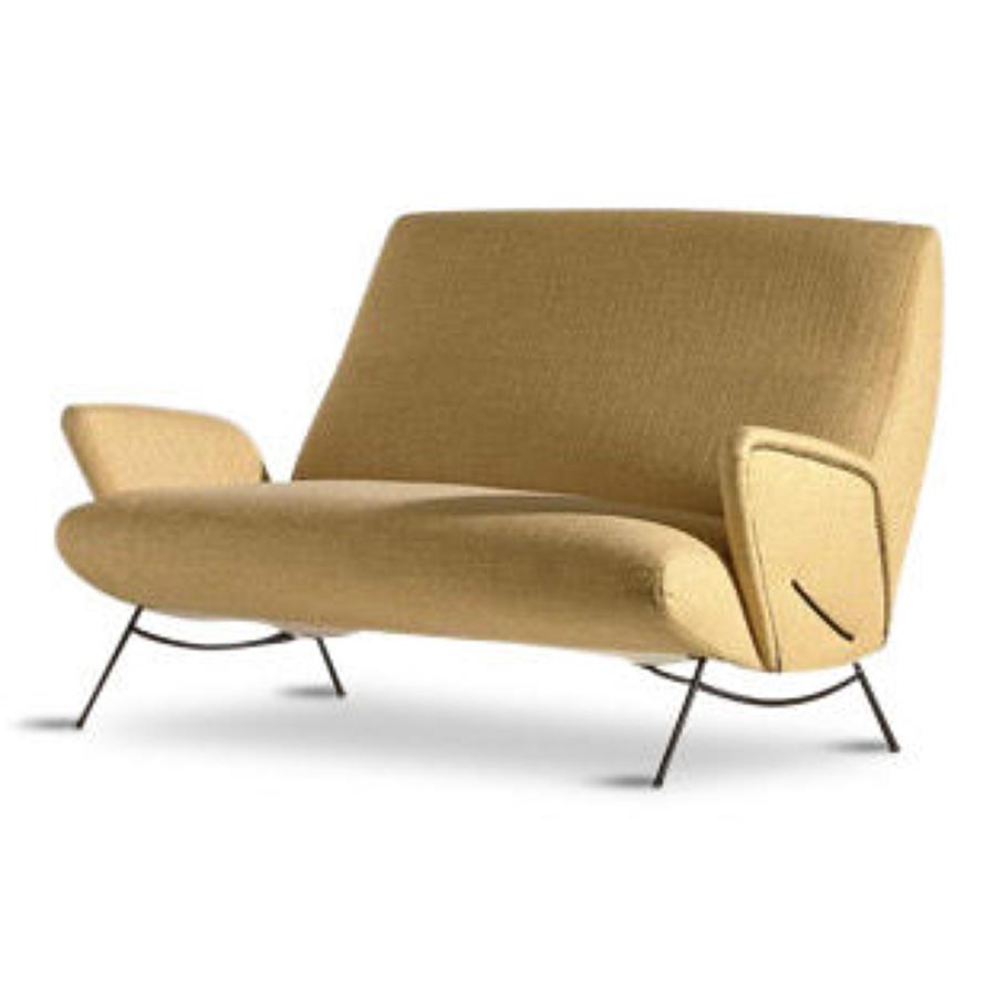 1950s Italian sofa in yellow fabric