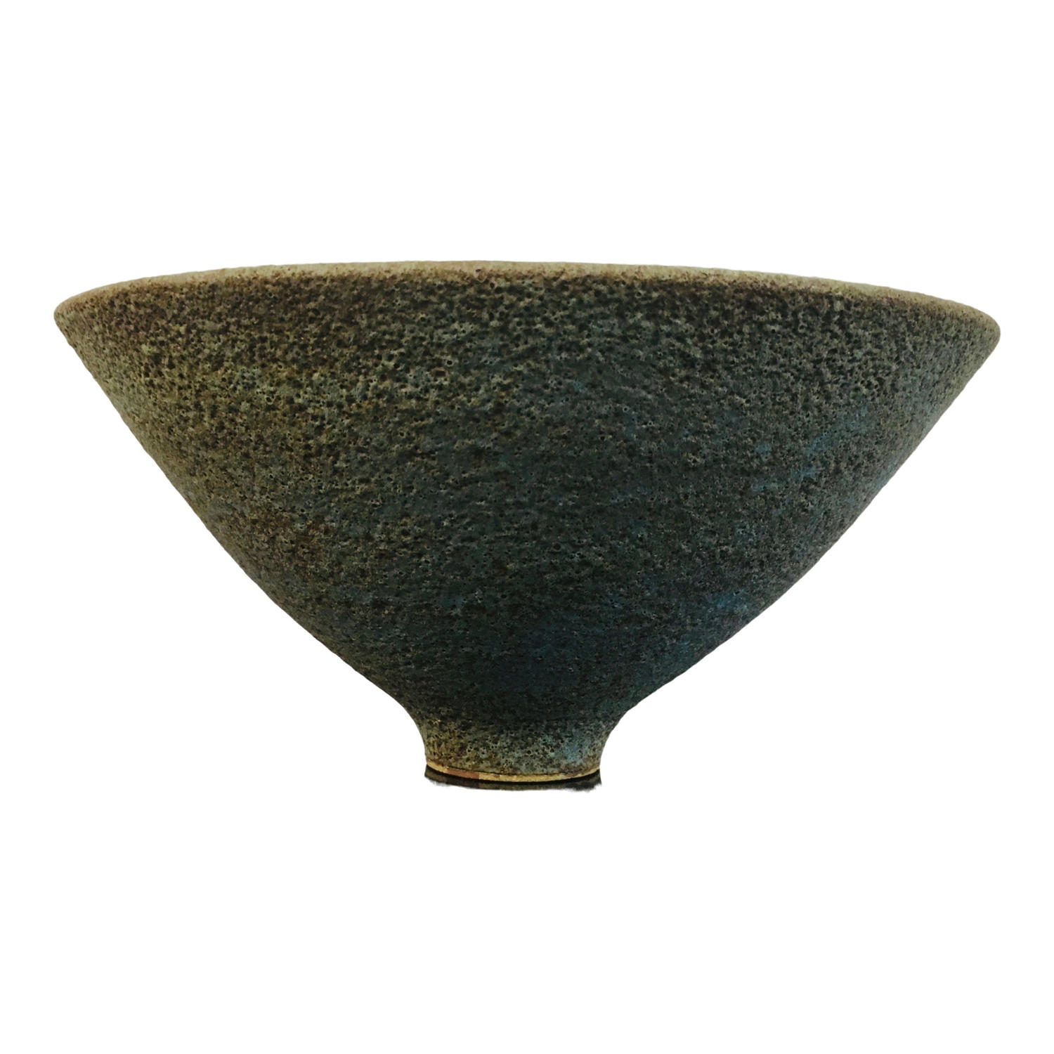 Blue textured studio pottery bowl