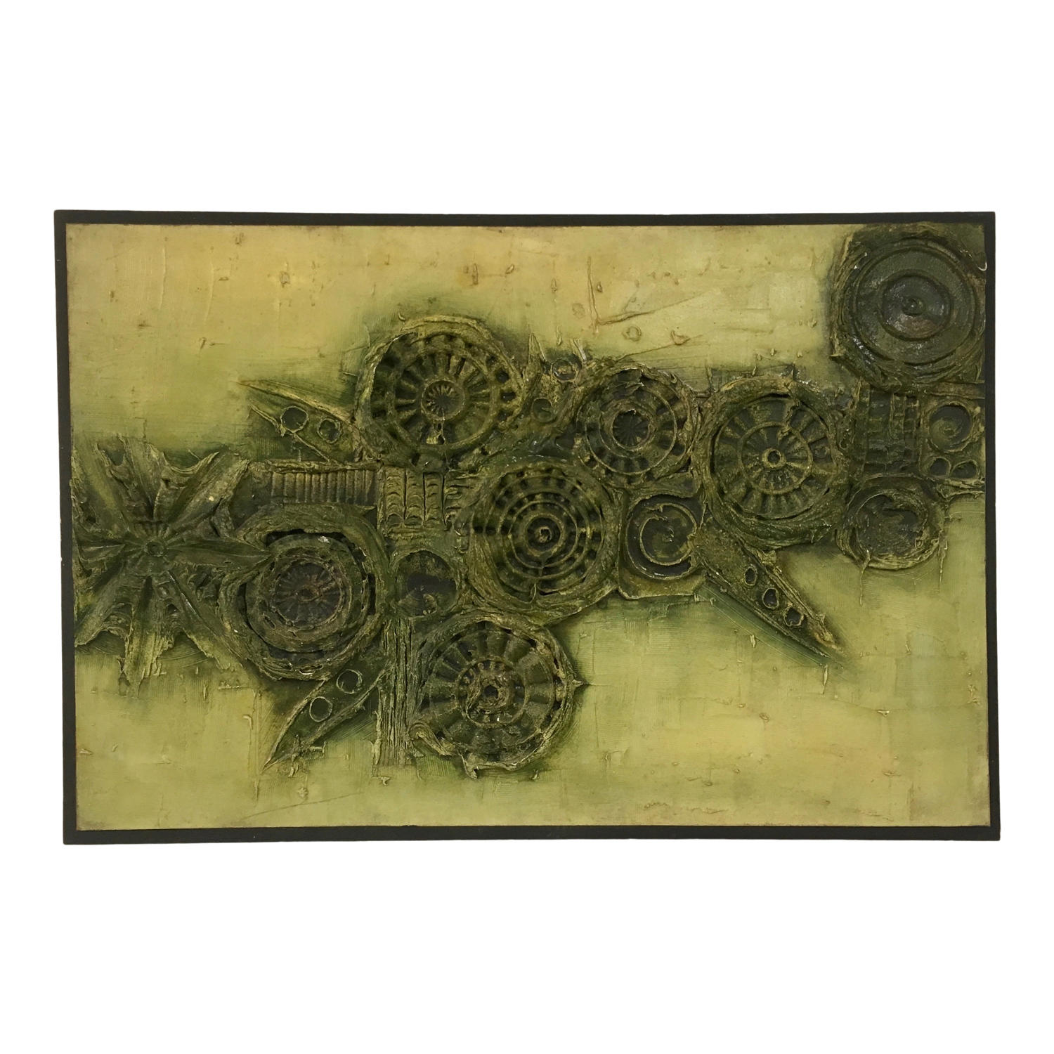 1970s abstract textured painting