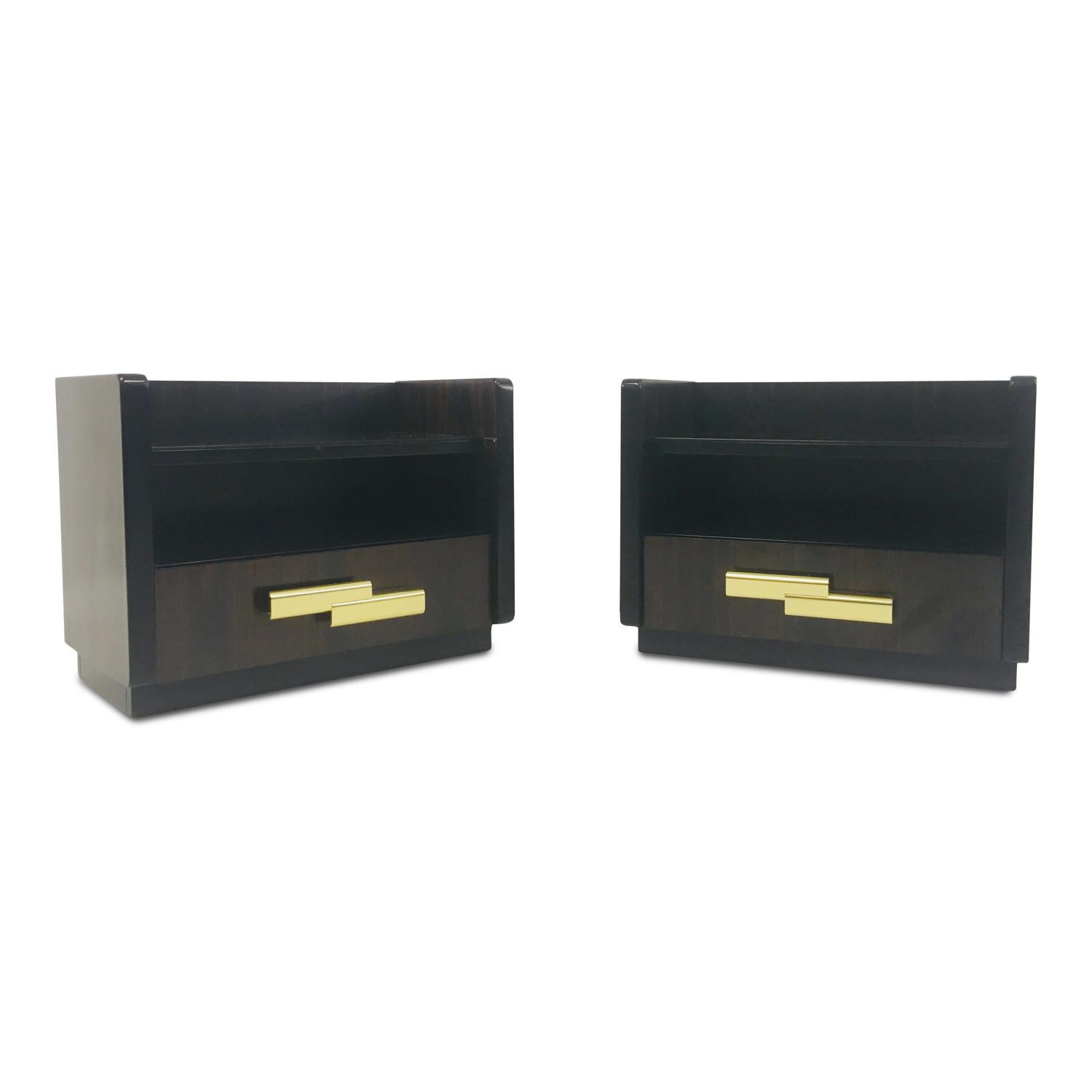 Pair of 1970s bedside tables by Luciano Frigerio