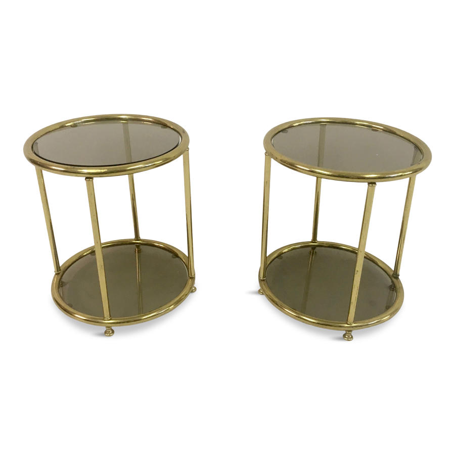 Pair of 1970s Italian brass side tables