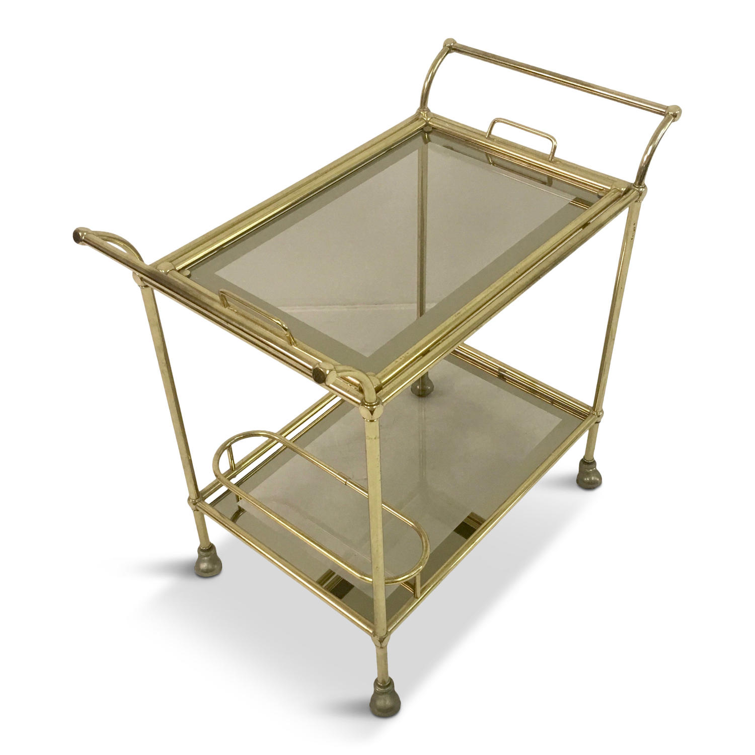 1970s Italian brass trolley or drinks cart