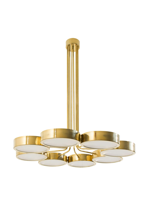 Contemporary Italian brass chandelier