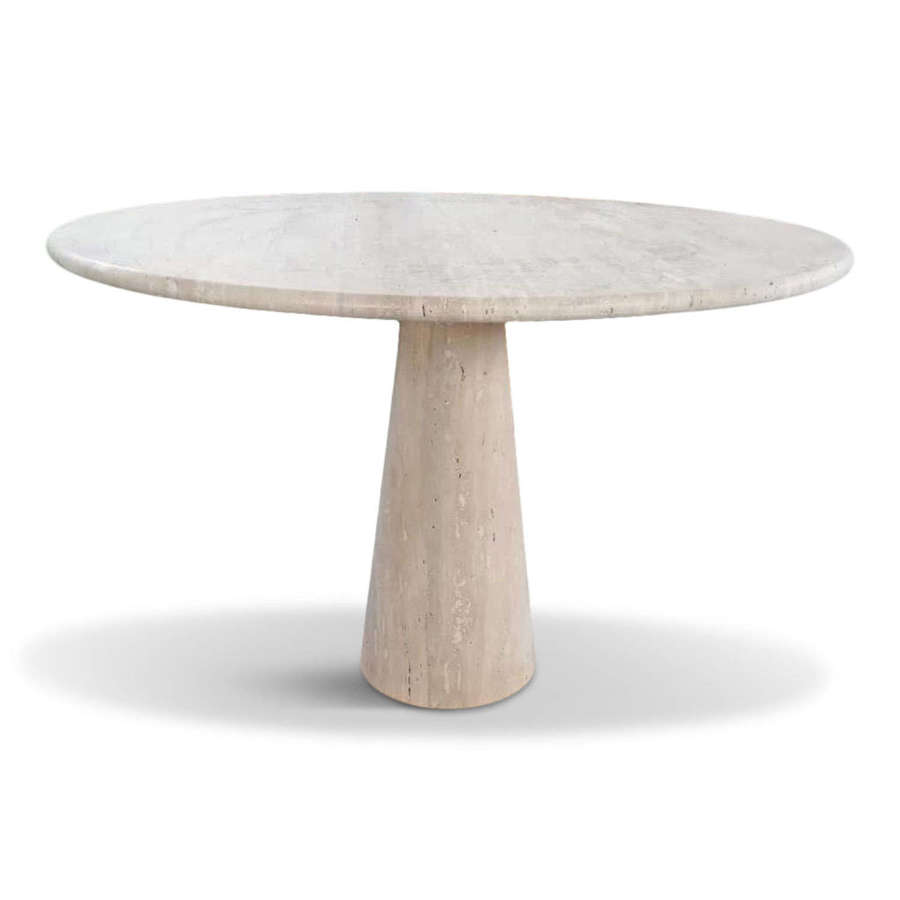 Made to order Italian travertine dining table