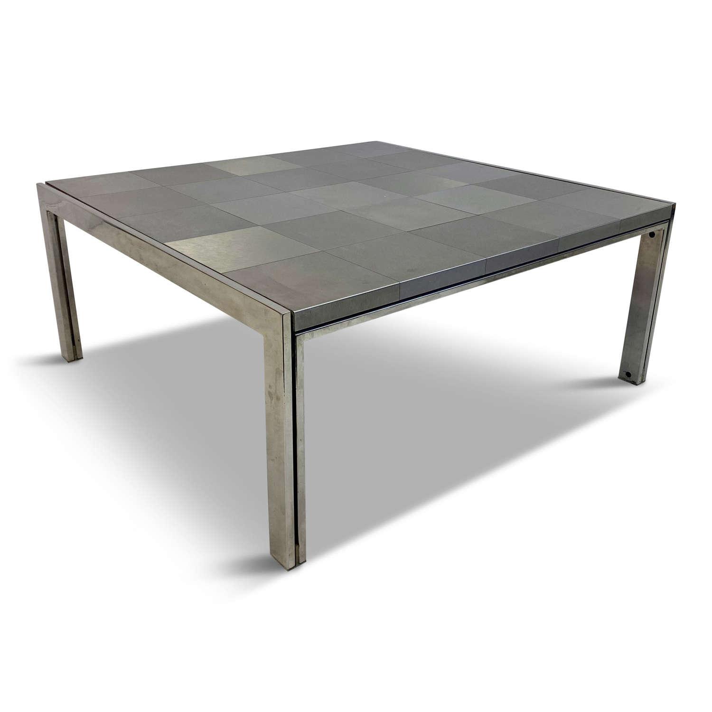 1970s Italian Steel Coffee Table By Ross Littell for ICF De Padova