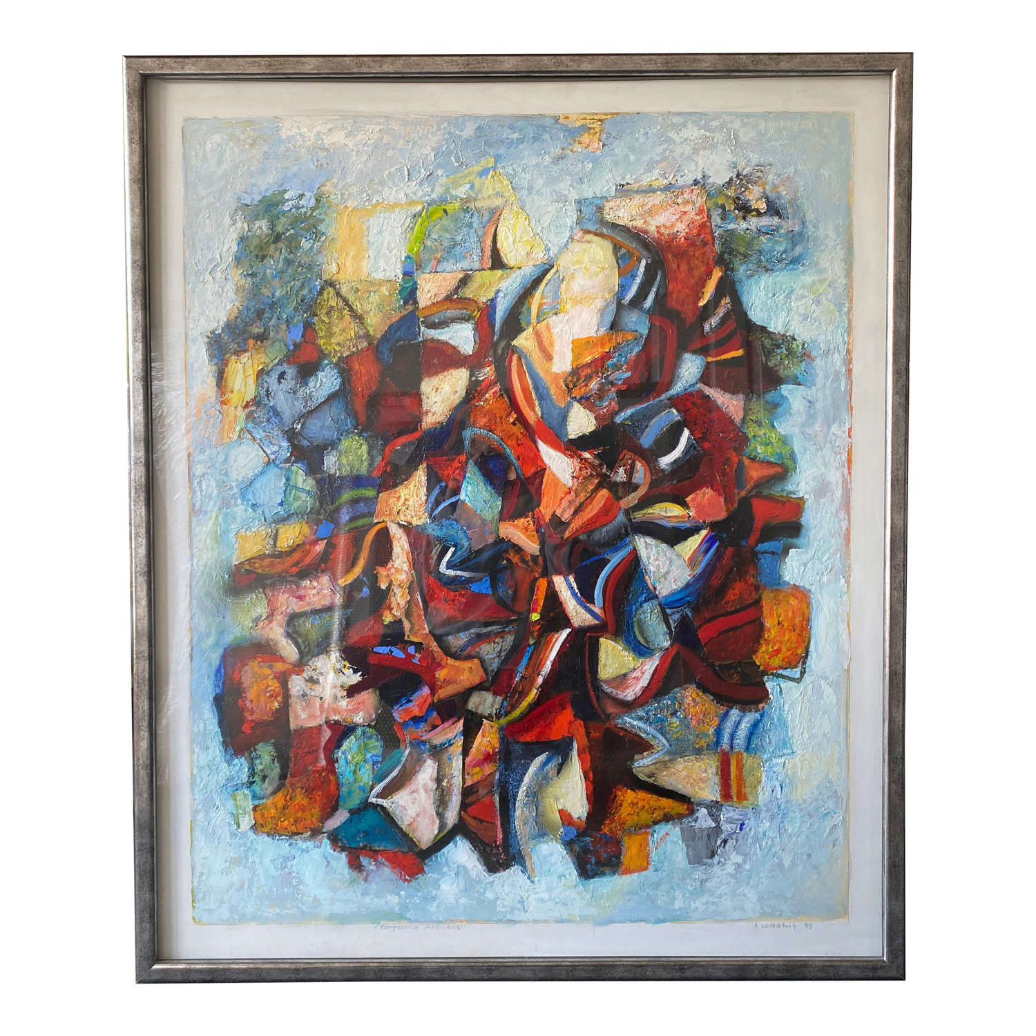 Large 20th Century Danish Abstract Painting