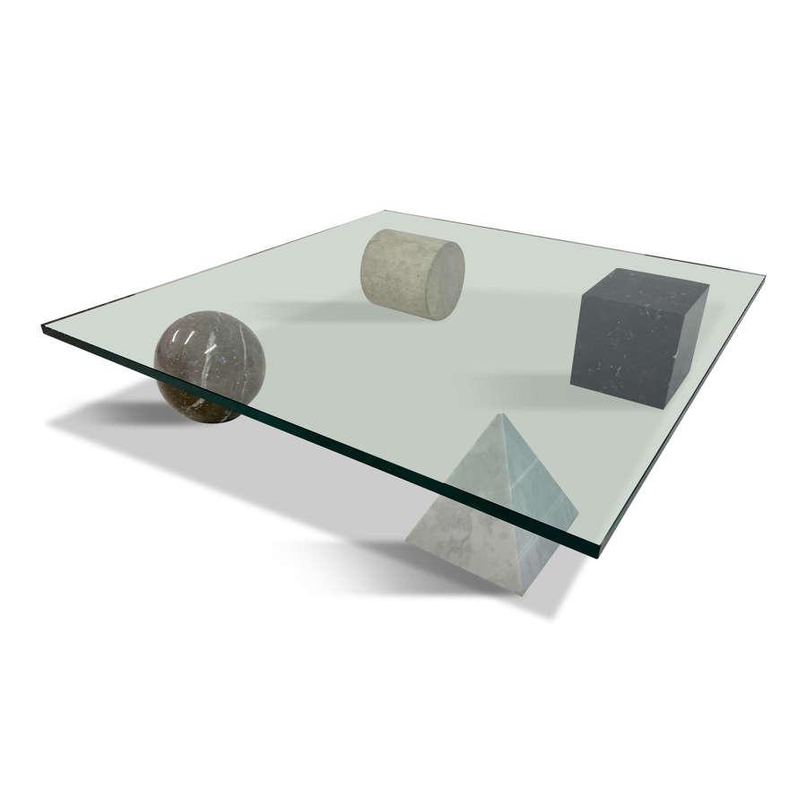 Metafora coffee table by Lella & Massimo Vignelli