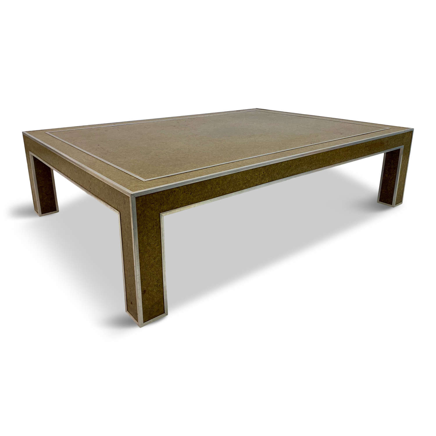 1970s Italian Cork and Chrome Coffee Table by Romeo Rega