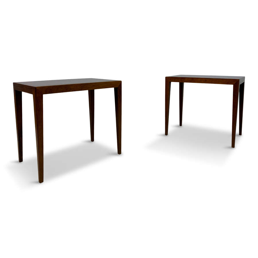Pair Of 1960s Danish Rosewood Side Tables By Severin Hansen Jr