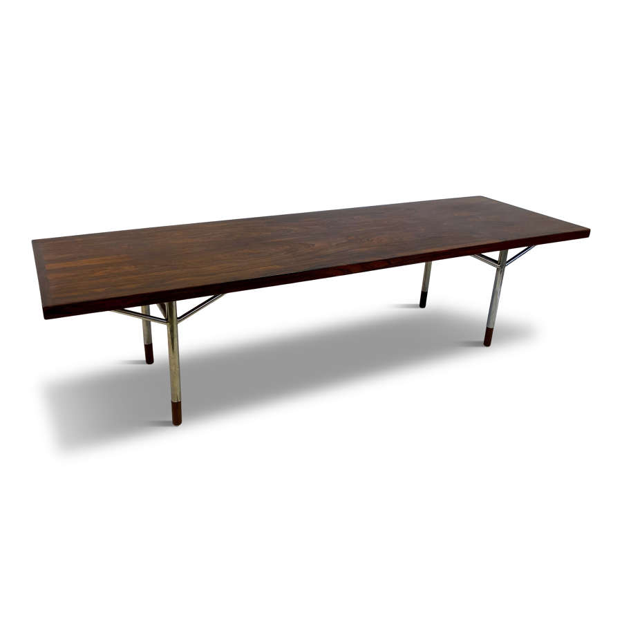 Unique Danish Rosewood Coffee Table Attributed to Arne Vodder