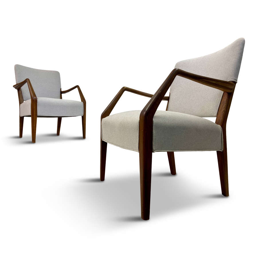 Pair of Danish Armchairs by Hvidt and Nielsen