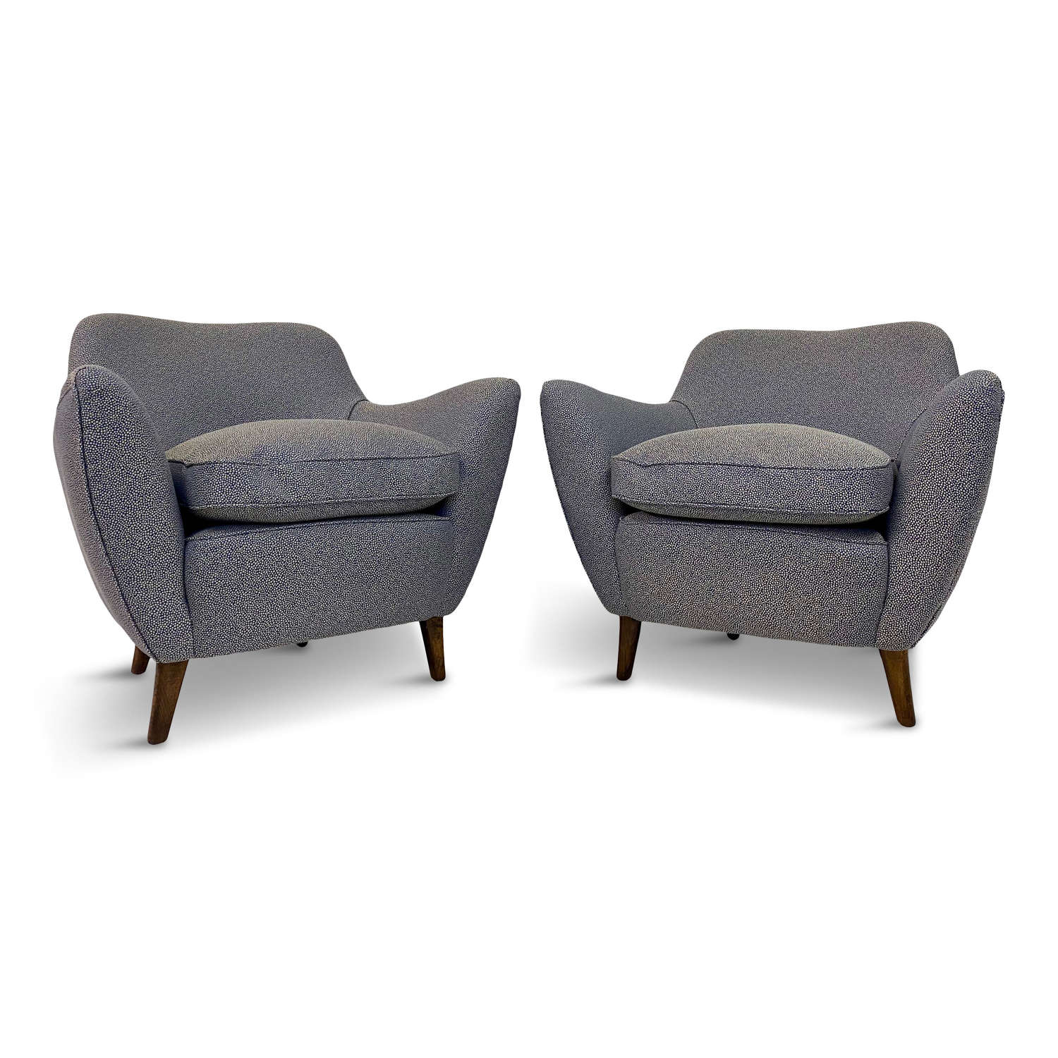 Pair of 1950s Italian Armchairs in the Style of Guglielmo Veronesi