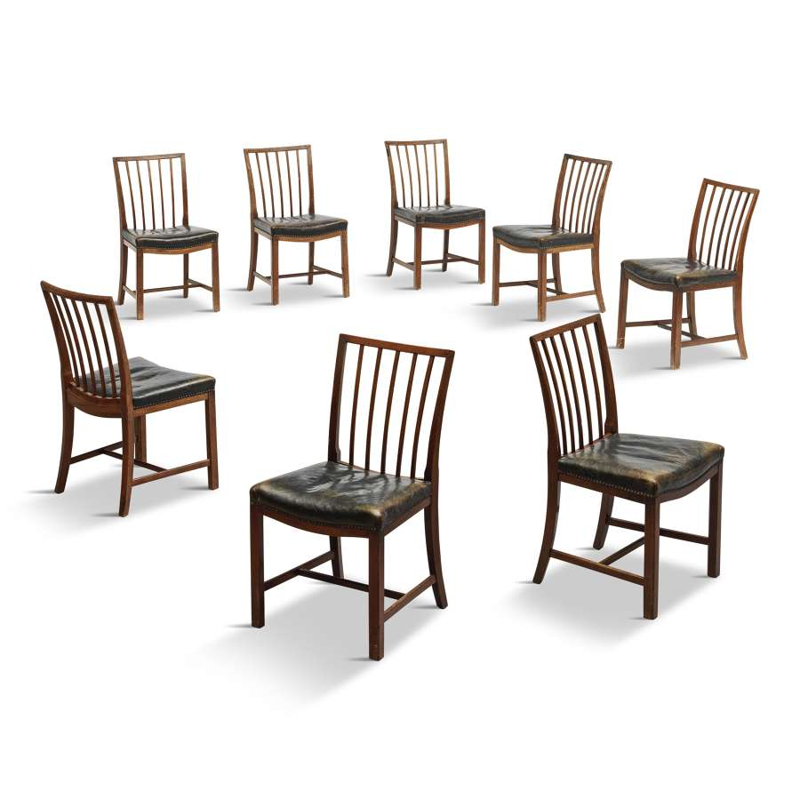 Set of Eight Danish Dining Chairs by Frits Henningsen