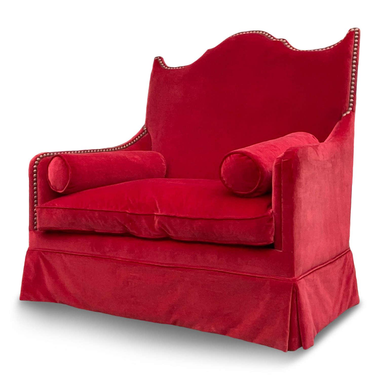 Red Velvet Two Seater by Yves Halard