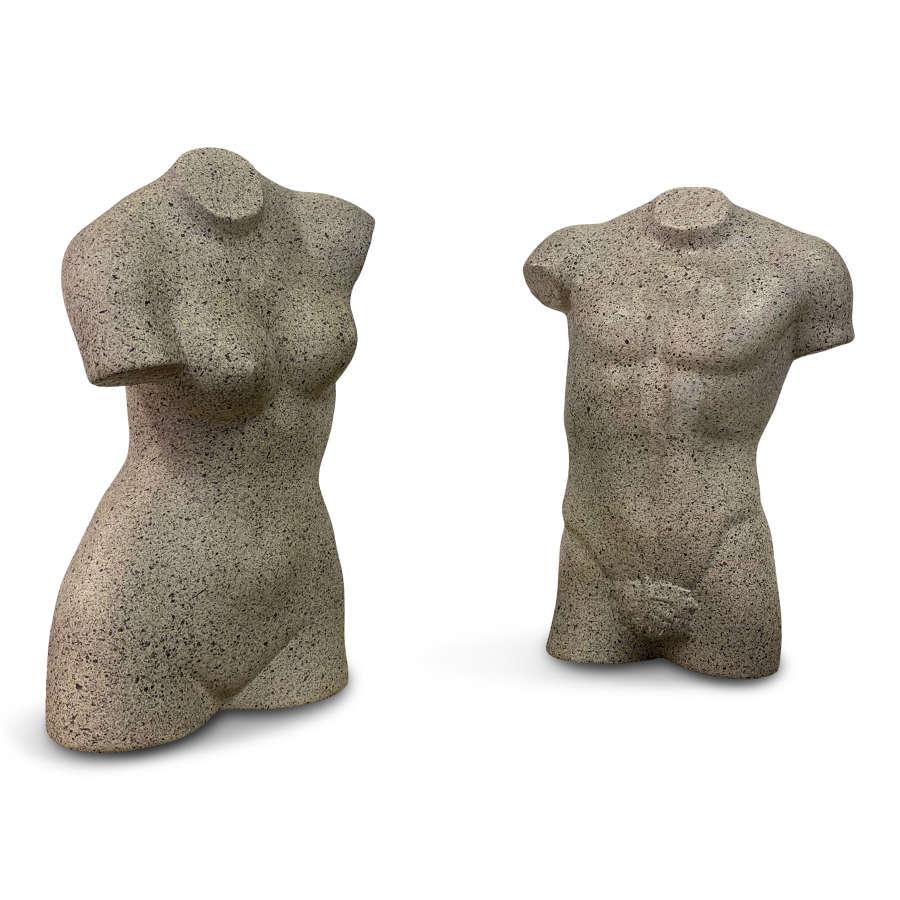 A Pair of Ceramic Torsos
