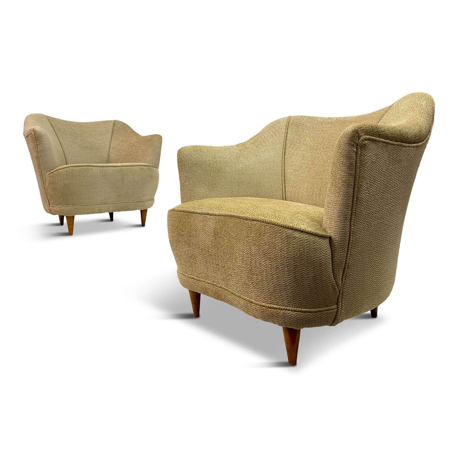 Pair of 1950s Italian Club Armchairs