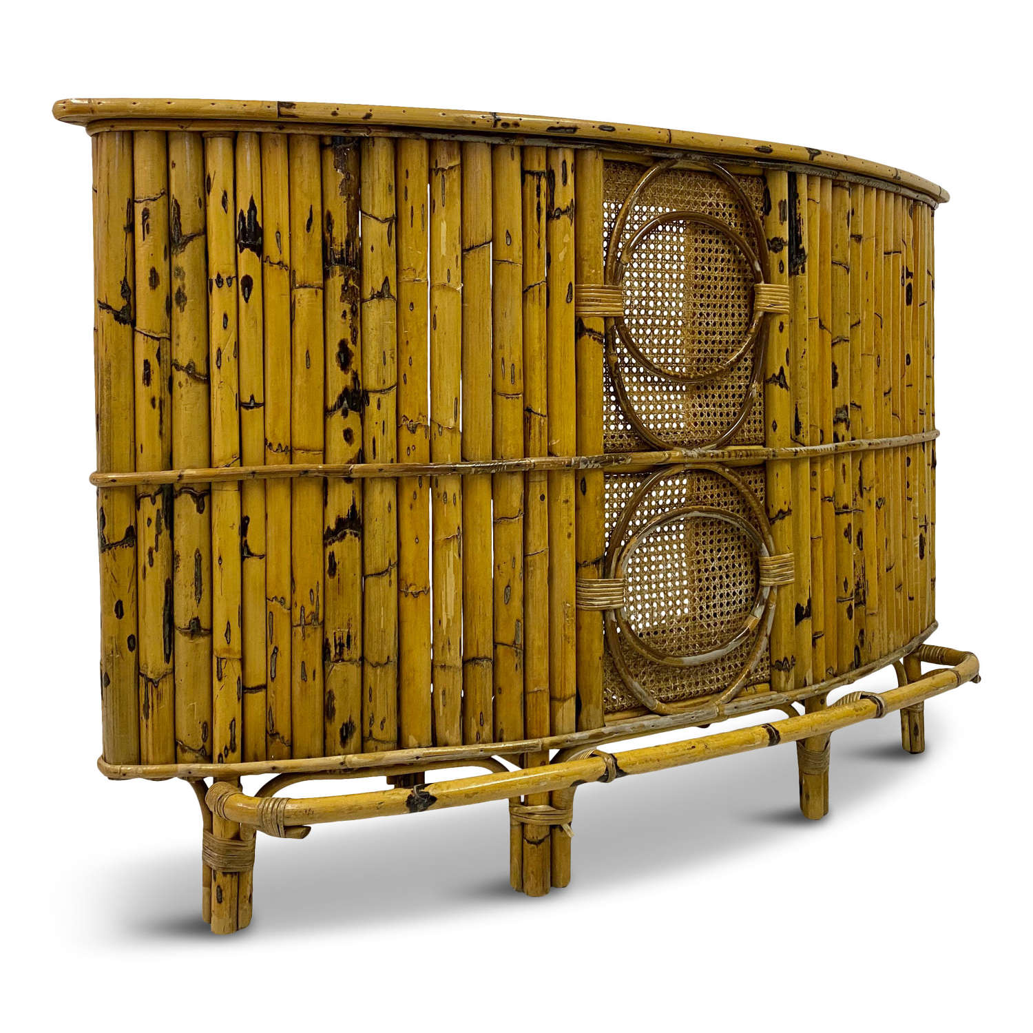 1970s Italian Bamboo and Rattan Cocktail Bar