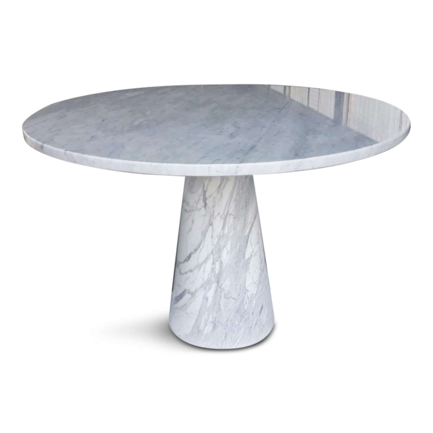 Made to Order Italian Dining Table in Carrara Marble