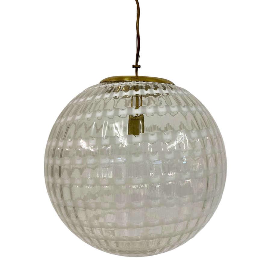 1970s Murano Glass Globe Pendant