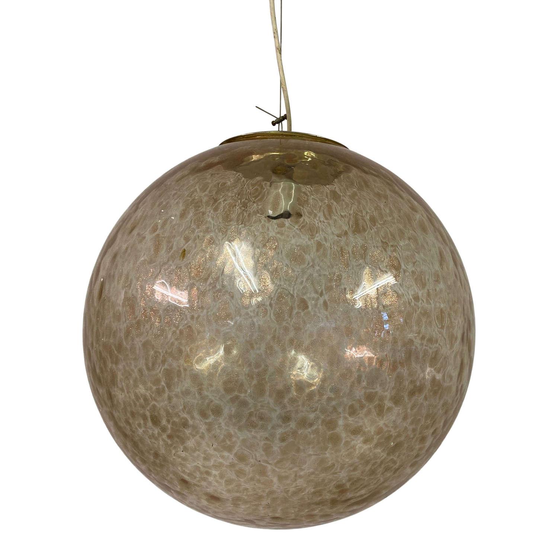 Large 1960s Murano Glass Globe Pendant