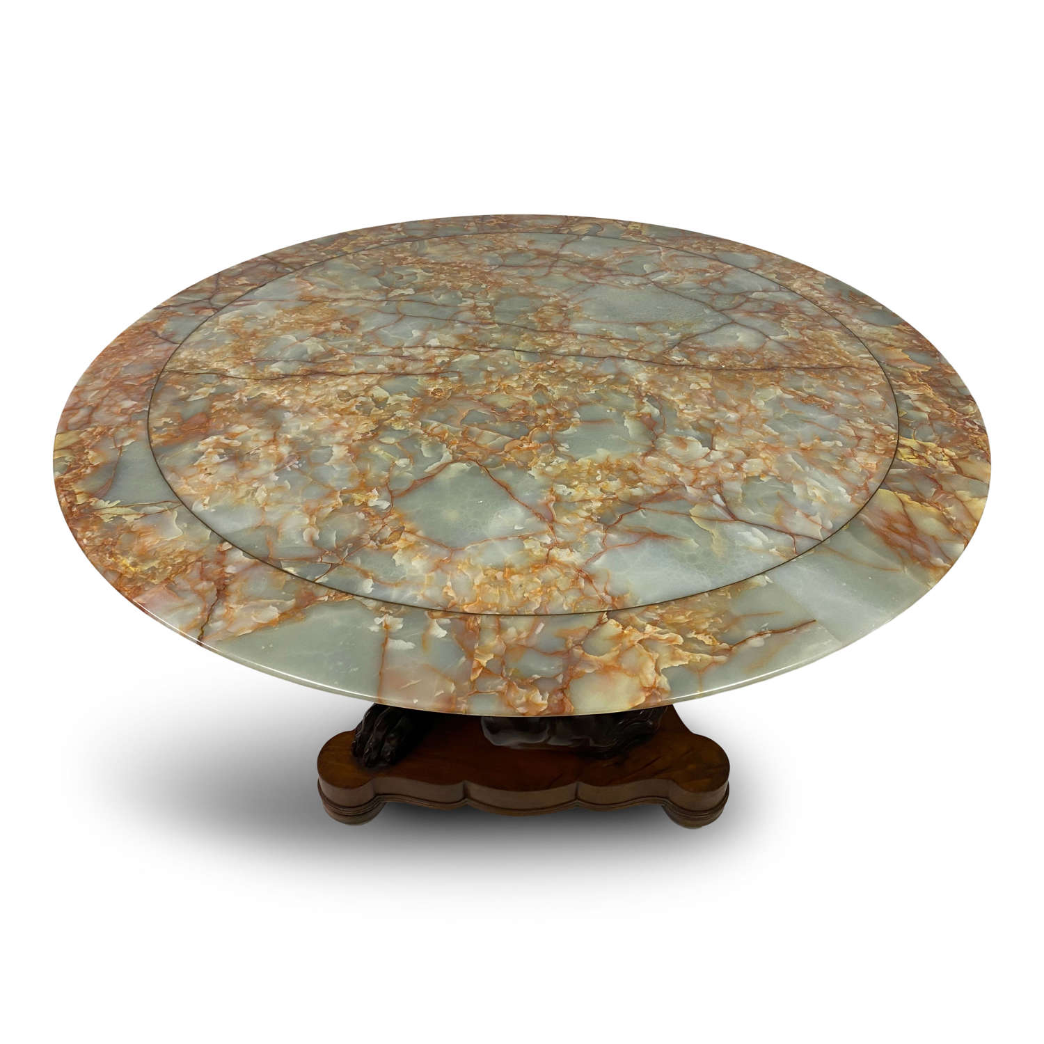 Early 20th Century Centre Table with Distinctive Onyx Top
