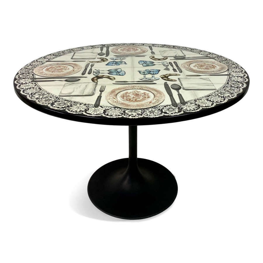 Vintage Fornasetti Tromp L'Oeil Dining or Centre Table