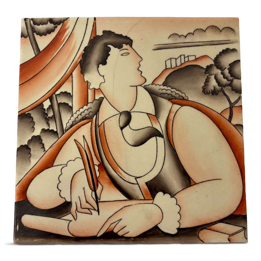 1930s Gio Ponti Ceramic Tile for Richard Ginori