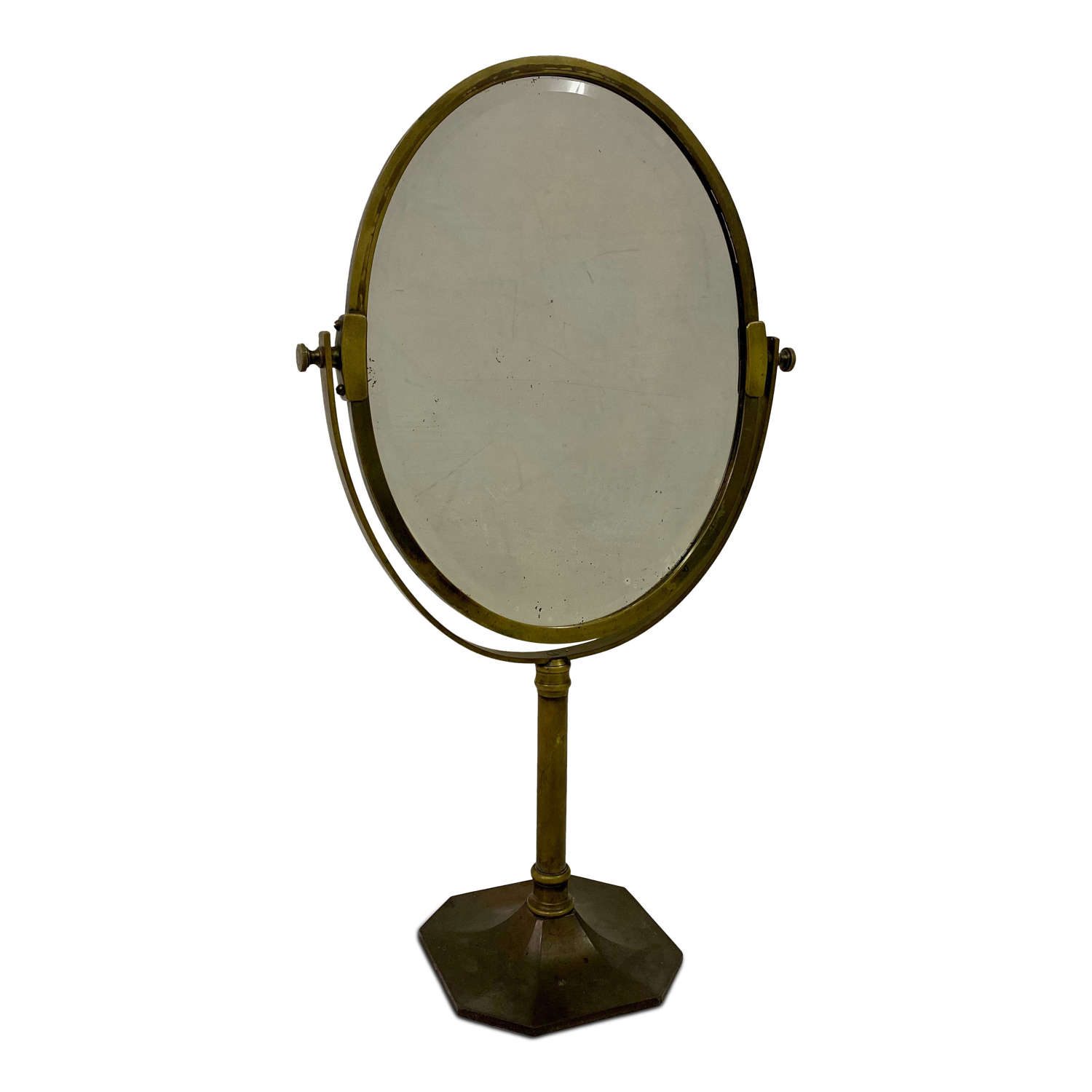 Early 20th Century Brass Vanity Table Mirror