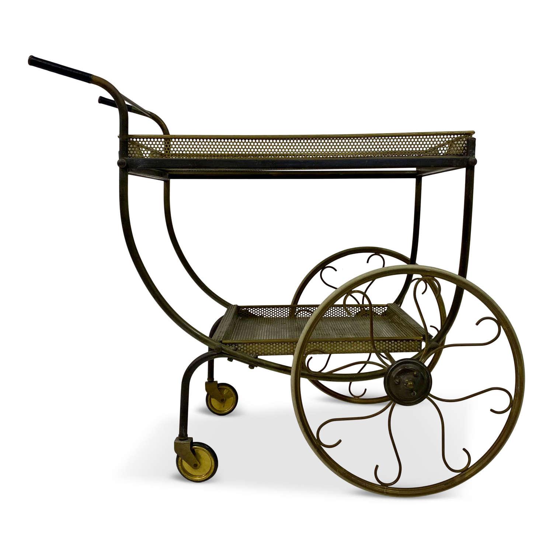 Mid Century Brass Bar Cart or Drinks Trolley by Svenskt Tenn
