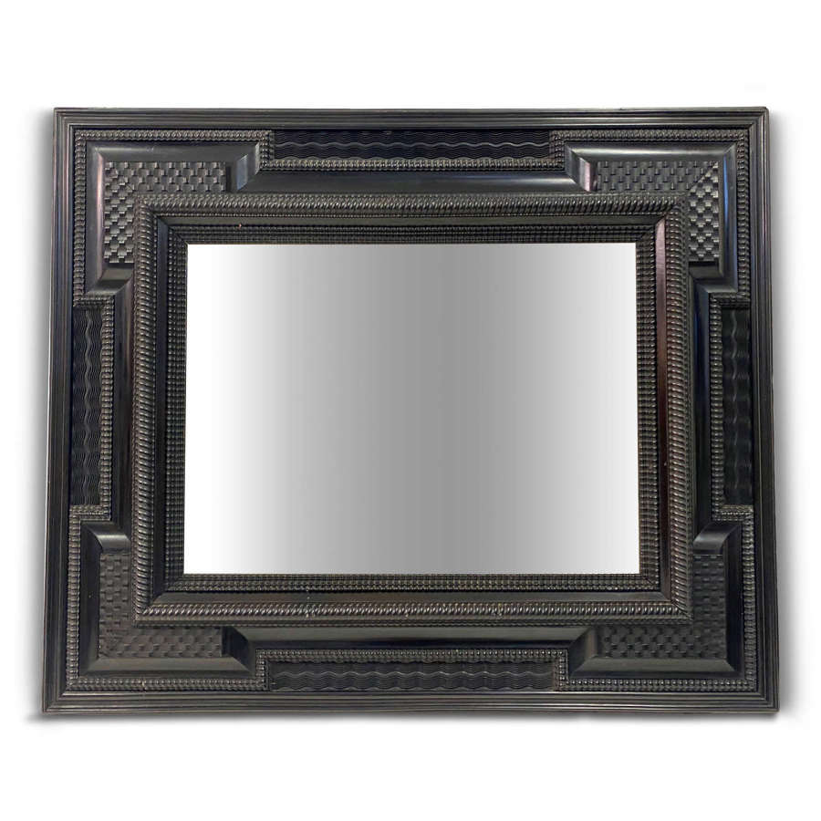 19th Century Ripple Moulded Mirror