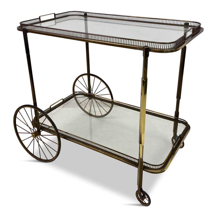1960s Bronze Drinks Trolley or Bar Cart