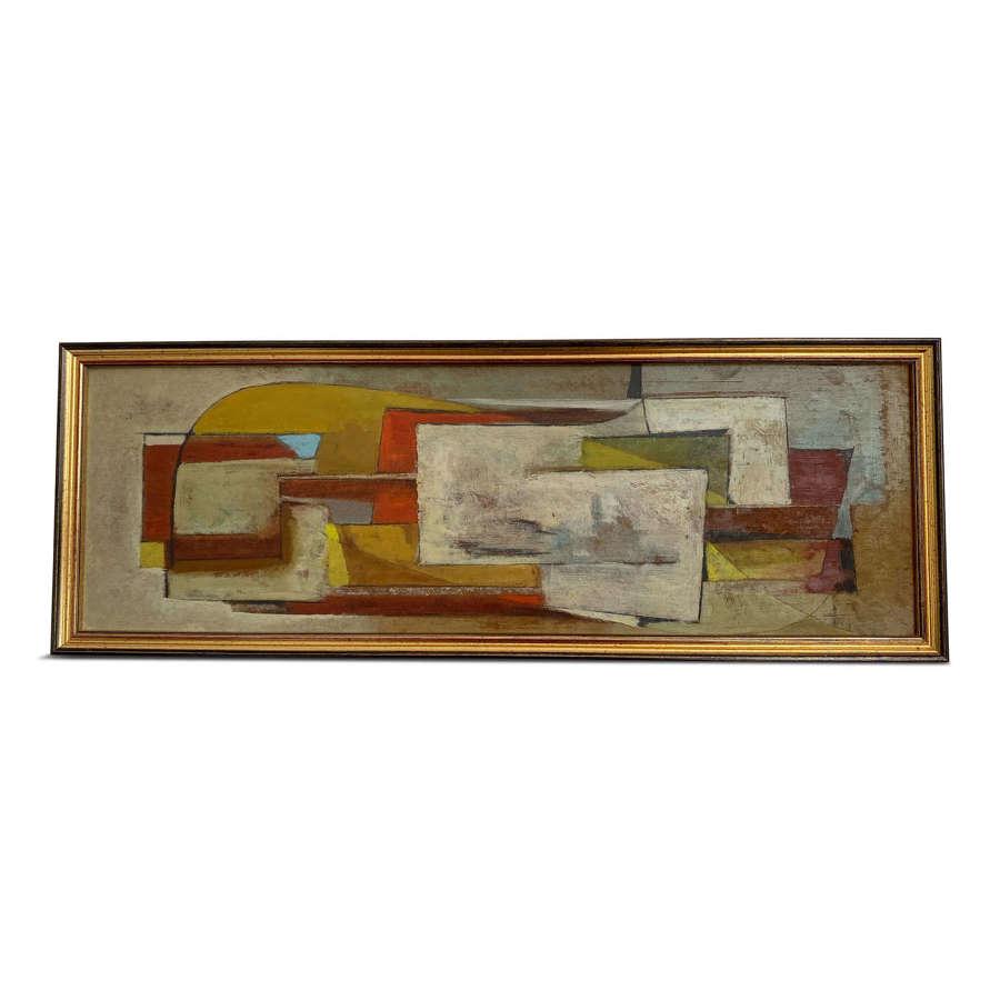 Mid Century Danish Abstract Painting